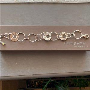 B1217 retired Silpada silver link bracelet